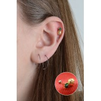 Ananas Model Piercing Helix, Tragus Titanyum TTNCOANS090619
